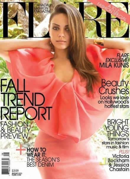 Mila Kunis fait la couverture du magazine Flare, Aout 2011