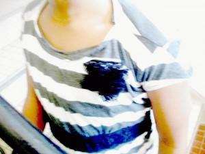 Un vieux t-shirt = une nouvelle robe = un sourire