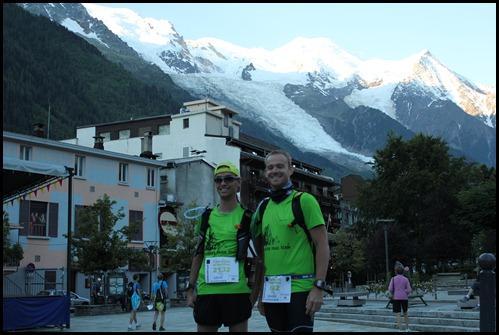 Johann et David devant le Mont Blanc