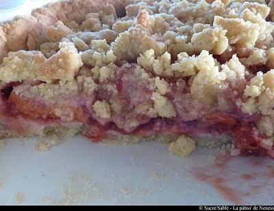 tarte crumble aux abricots et framboises paperblog. Black Bedroom Furniture Sets. Home Design Ideas