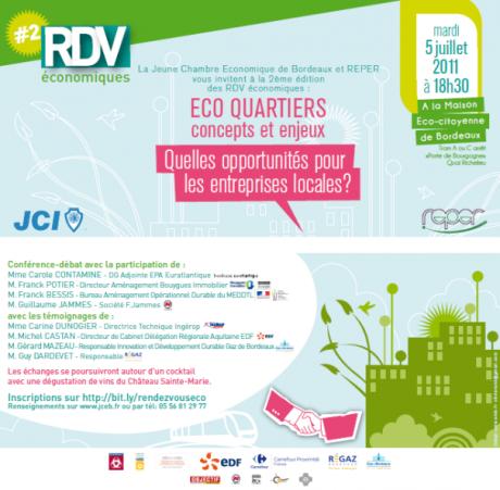 Conférence sur les éco quartiers et l'impact économique local