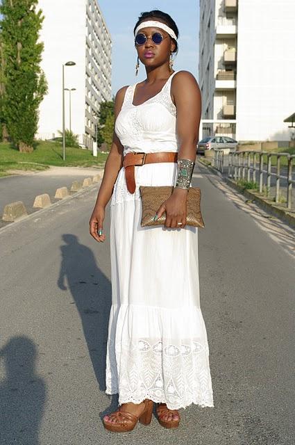 Maxi dress white !