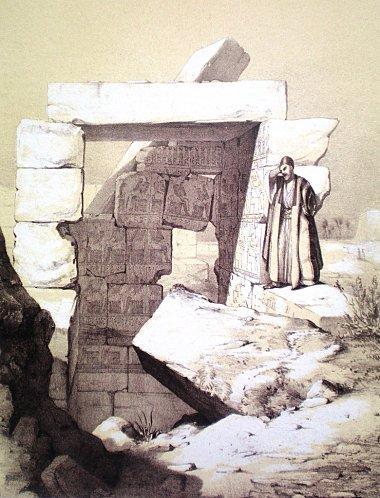 Chambre des Ancêtres - Dessin de Prisse