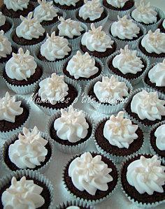 Mini cupcakes blanc