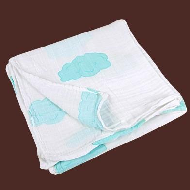 Maxi lange nuages coton bio bleu