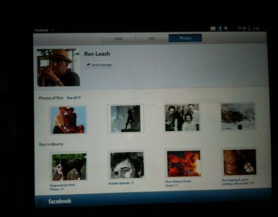 facebook webos 02 Une application Facebook réussie pour la TouchPad dHP