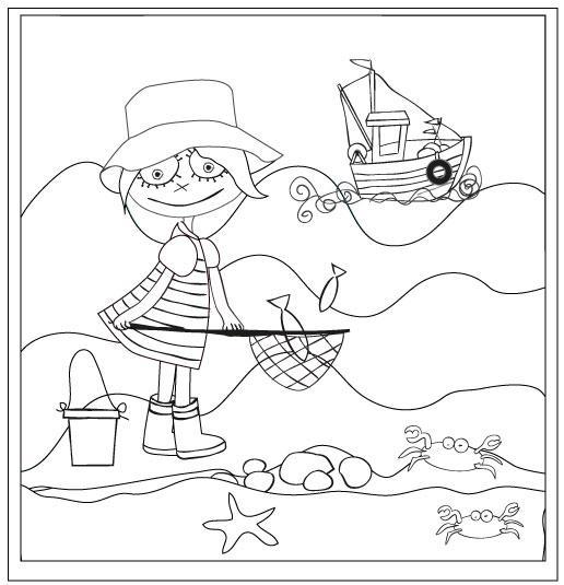 Coloriage la pêche