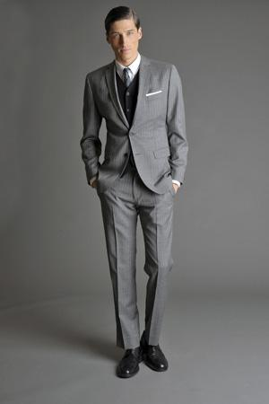 Men Look05 Grey Background La superbe collection Mad Men pour Banana Republic