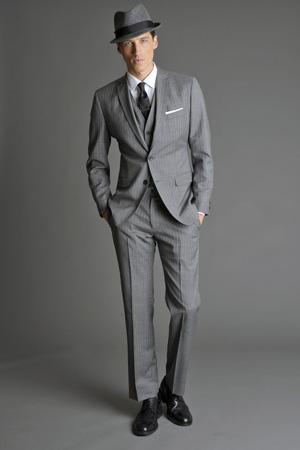 Men Look01 Grey Background La superbe collection Mad Men pour Banana Republic