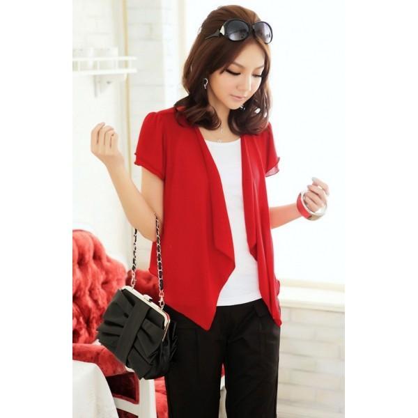 veste-courte-rouge showroom mode