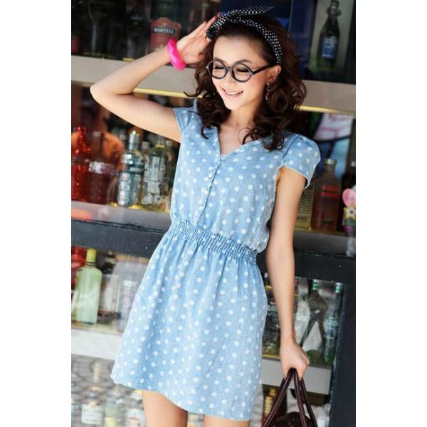 robe bleue showroom mode