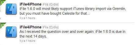 iFile vous permettra d'importer vos musiques dans votre bibliothèque !