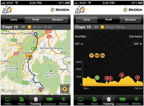 Le tour de France 2011 a son application iPhone !