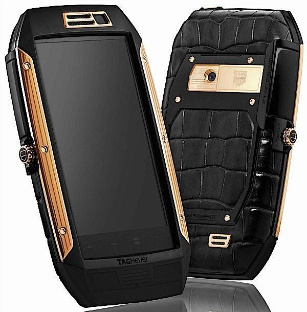tag heuer link full rose gold black alligator Tag Heuer dévoile son Link Phone