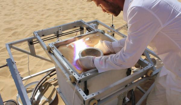 solar De limpression 3D grâce au sable et au soleil du désert