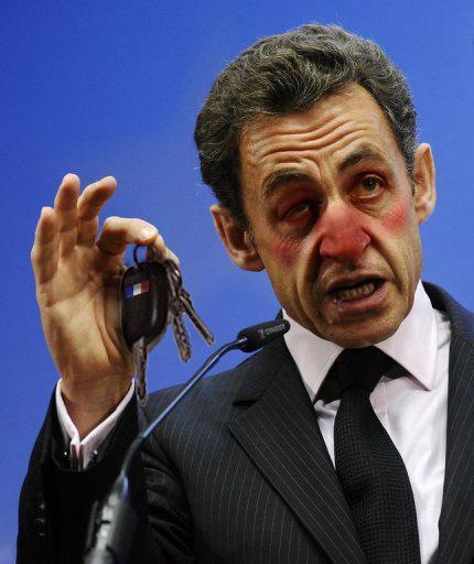 Sarkozy : Boire ou conduire la France, il a choisi. Les deux.