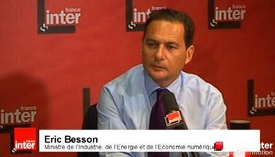 [France Sarkozyste] Censure d'Internet : Eric Besson annonce un nouveau décret sur le filtrage