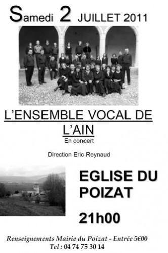 ensemble vocal de l'ain,le poizat,ain,rhône-alpes,musique,concert,poulenc,fauré,franck,gounod,eric reynaud