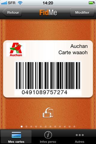[MAJ] FidMe, le portecarte mobile pour toutes vos cartes de fidélité sur iPhone...