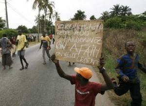Émeutes de la faim en Côte d'Ivoire, avril 2008