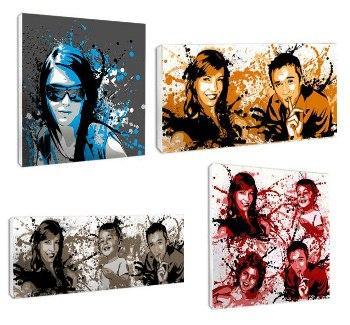 Portraits personnalisés 1, 2, 3 et 4 visages