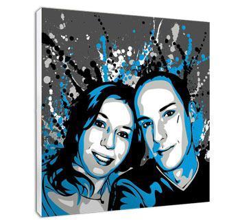 Portrait personnalisé pour couple