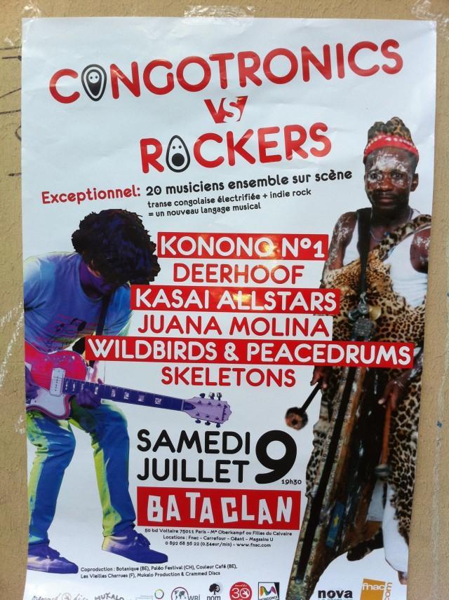 Congotronics Vs Rockers au Café de la Danse le 9 juillet