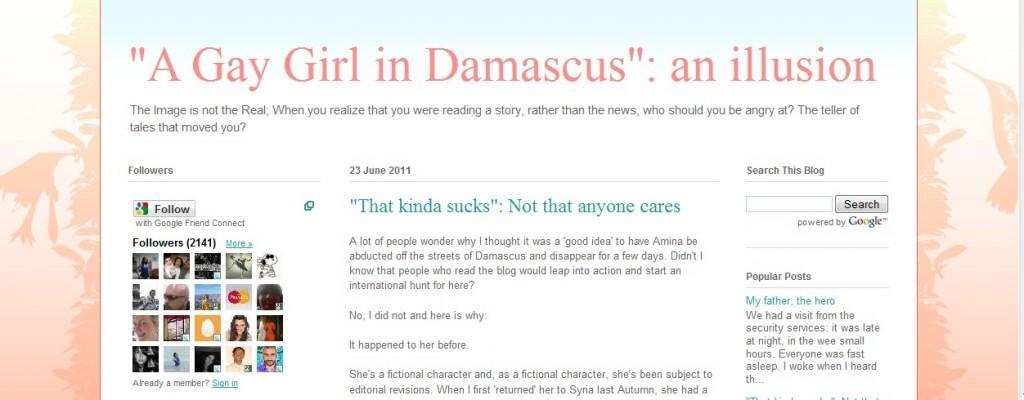 Les  spin doctors du Net : la vraie vie de la Gay Girl in Damascus