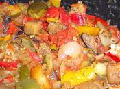 Petites cocottes ratatouille olives