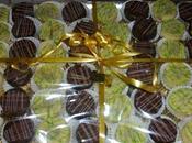Palets chocolat façon scrapcooking, fourrés cacahuètes