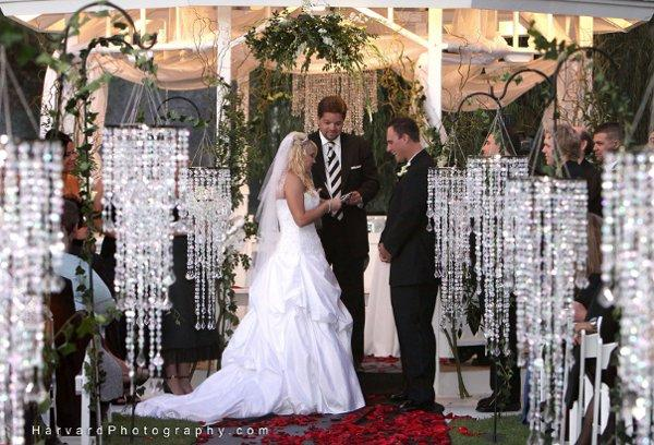 Gold et diamond decoration de mariage theme diamant for Decoration ceremonie