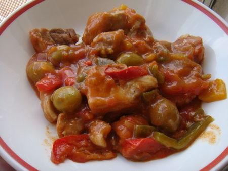 Saute de porc fa on basquaise paperblog - Cuisiner un saute de porc ...