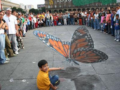 Un papillon géant à Mexico