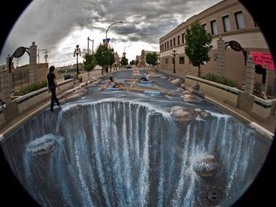 Waterfall ou le dessin de rue XXL