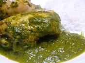 Saag Murgh Poulet épinards Chicken spinach curry