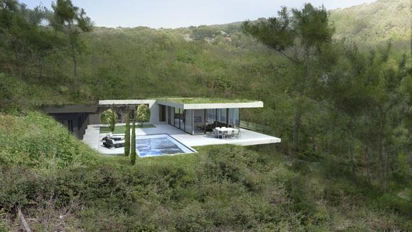 maison contemporaine sur les hauteurs de cassis paperblog. Black Bedroom Furniture Sets. Home Design Ideas
