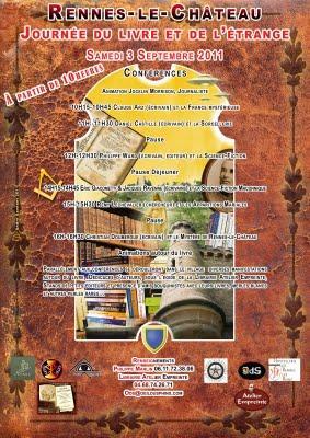 RENNES-LE-CHATEAU : JOURNEE DU LIVRE ET DE L'ETRANGE - LE 3 SEPTEMBRE 2011