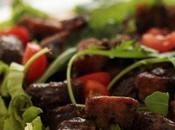 Salade gésiers canard: comment servir d'une poêle sans Teflon