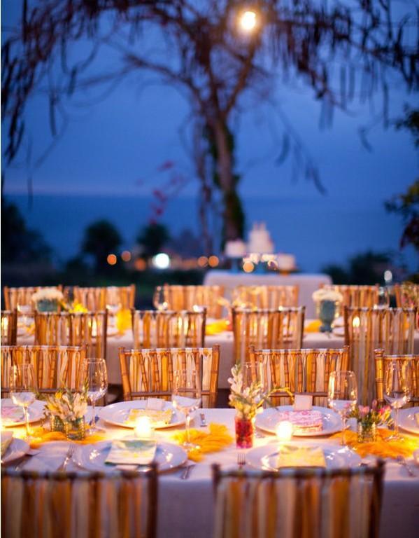 Decoration de table éclairée