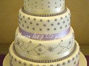Wedding cake parme blanc