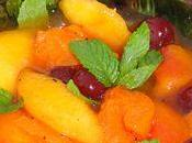 Salade fruits abricots nectarines