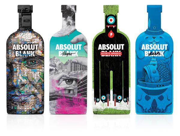 absolut vodka Absolut Blank, mouvement créatif
