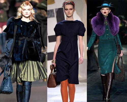 Les couleurs tendances hiver 2012