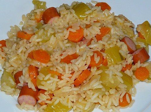 Riz aux l gumes et knack recette l g re d couvrir - Gramme de riz par personne ...