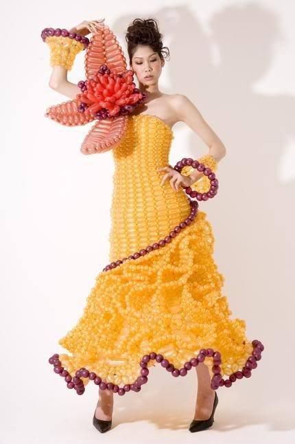 Création les robes les plus insolites en image