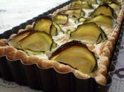 Tarte roses courgette, emmental moutarde cèpes fumé