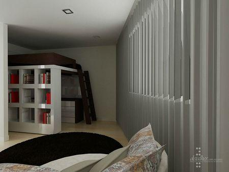 chambre ado espace mezzanine projet en 3d paperblog. Black Bedroom Furniture Sets. Home Design Ideas