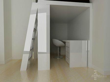 chambre ado espace mezzanine projet en 3d paperblog. Black Bedroom Furniture Sets. Home Design Ideas