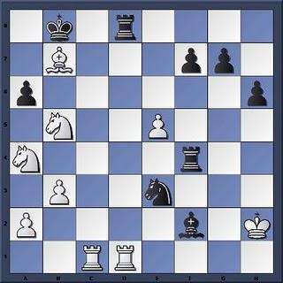 Echecs à Caen : la position après 36.Cxb5