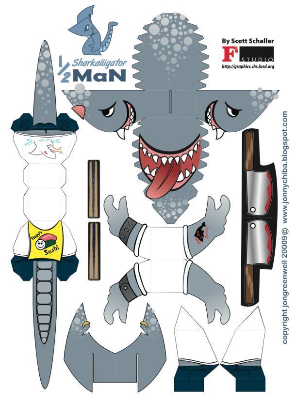 Shark Paper Toy : Sushi shark le requin cuisto… À voir